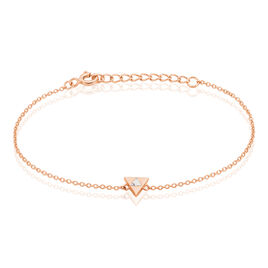 Bracelet Tallulah Argent Rose Pierre De Synthese - Bracelets fantaisie Femme | Histoire d'Or