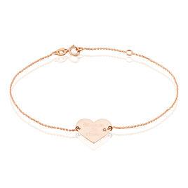 Bracelet Sofia Coeur Or Rose Oxyde De Zirconium - Bracelets Coeur Femme | Histoire d'Or