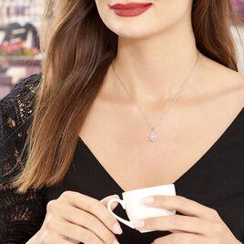 Collier Lysa Argent Blanc Oxyde De Zirconium - Colliers fantaisie Femme   Histoire d'Or