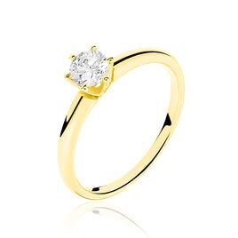 Bague Solitaire Ruken Or Jaune Diamant - Bagues solitaires Femme | Histoire d'Or