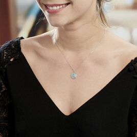 Collier Adonia Argent Blanc Verre - Colliers fantaisie Femme | Histoire d'Or