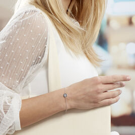 Bracelet Perona Argent Blanc Oxyde De Zirconium - Bijoux Etoile Femme   Histoire d'Or