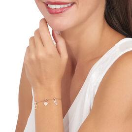 Charms Lelie Or Rose Oxyde De Zirconium - Pendentifs Coeur Femme | Histoire d'Or
