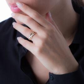 Bague Or Bicolore Et Diamant - Bagues Croix Femme | Histoire d'Or