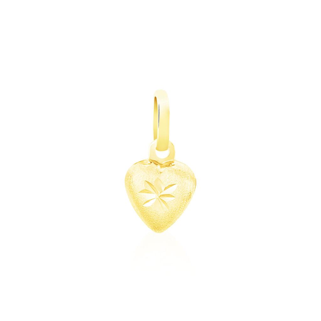 Pendentif Eudocie Coeur Mat Et Brillant Or Jaune - Pendentifs Coeur Unisexe   Histoire d'Or