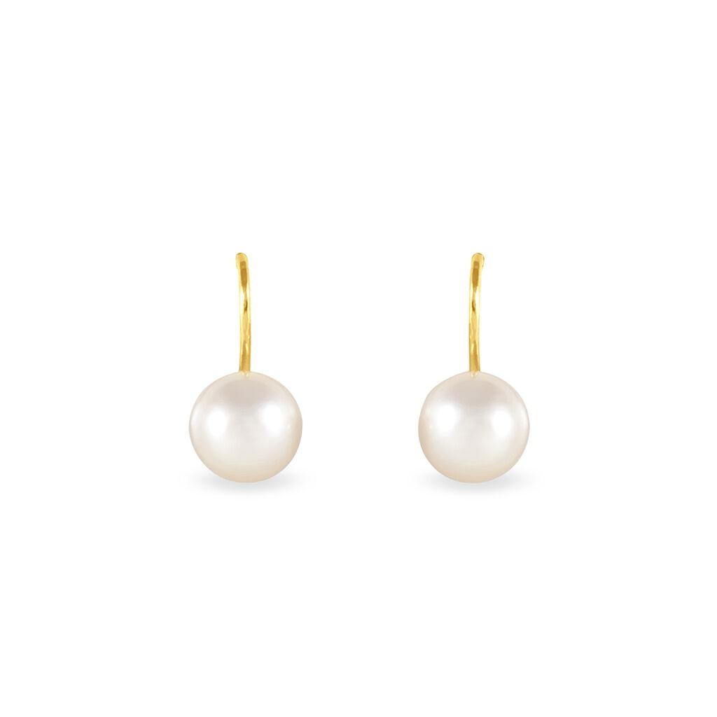 Boucles D'oreilles Or Perle De Culture - Boucles d'oreilles pendantes Femme | Histoire d'Or
