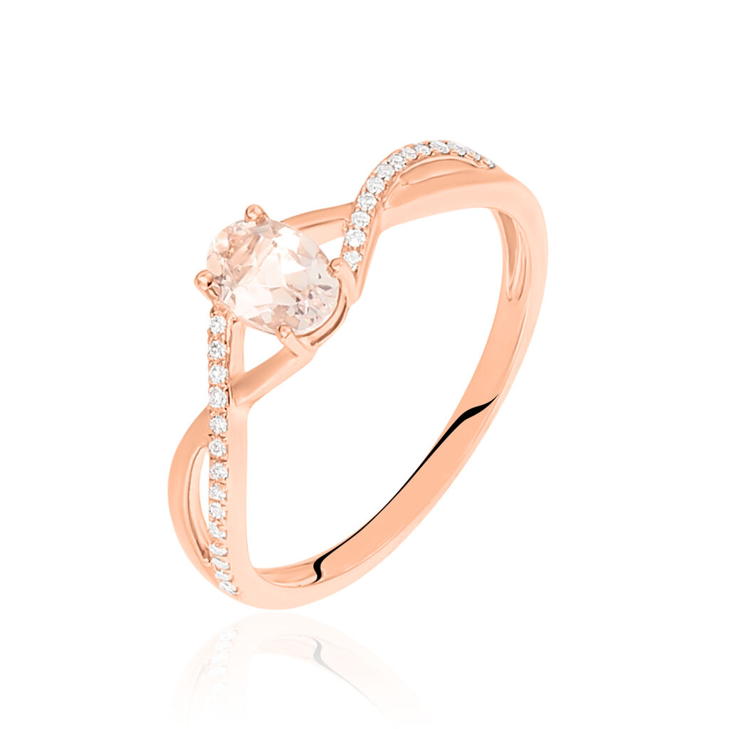 Bague Imane Or Rose Morganite Et Diamant