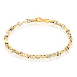 Bracelet Or Bicolore Maille Marine Ronde - Bracelets chaîne Homme | Histoire d'Or