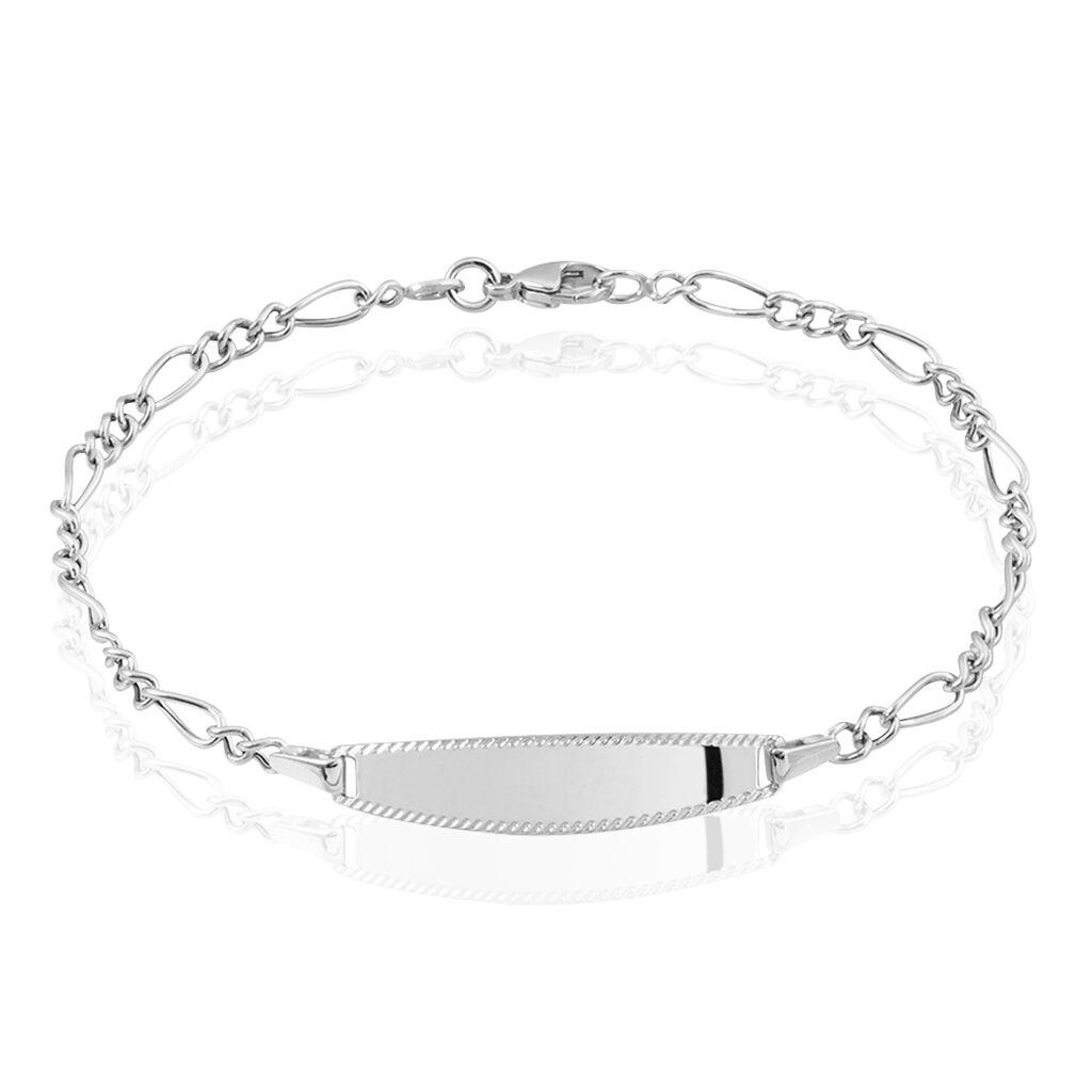 Bracelet Identité Or Blanc - Bracelets Communion Enfant | Histoire d'Or