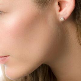 Boucles D'oreilles Or Blanc Grace Puce - Clous d'oreilles Femme | Histoire d'Or