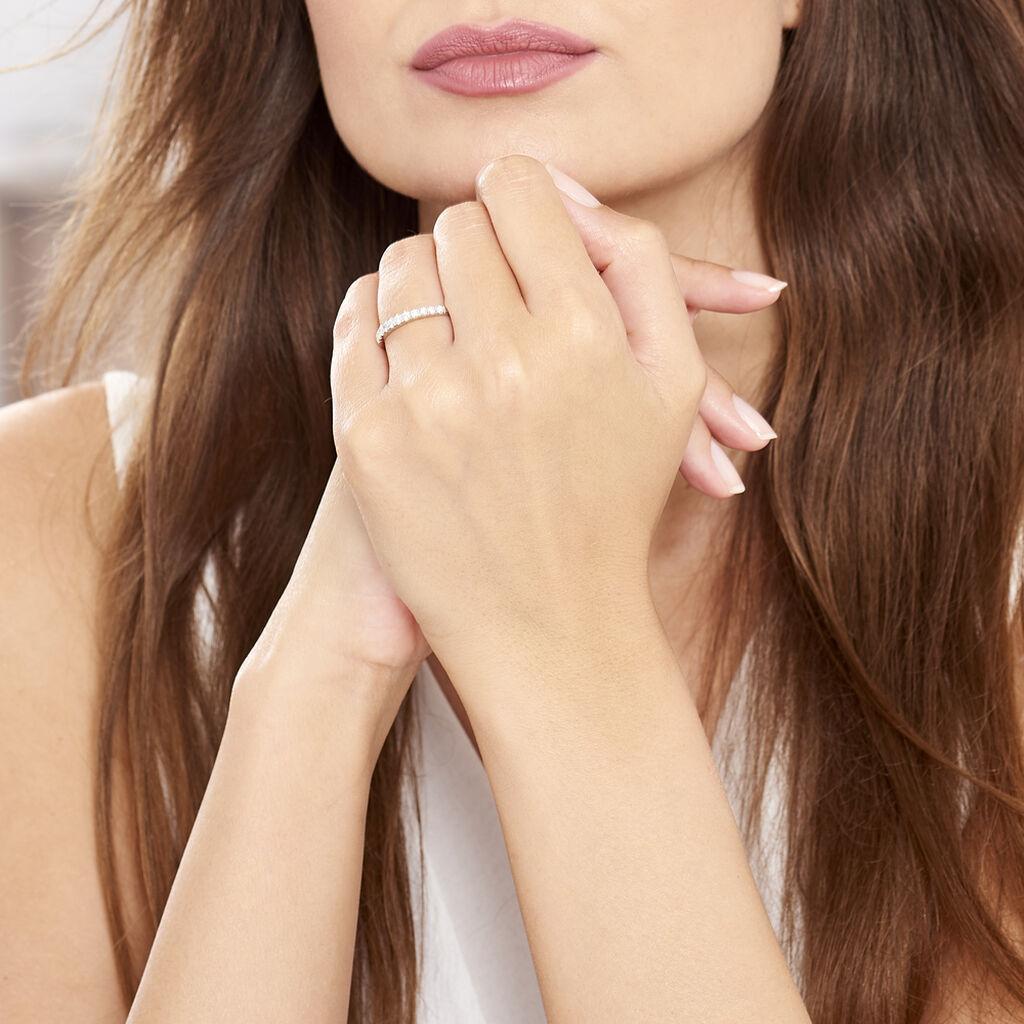 Alliance Pristina Or Blanc Diamant - Alliances Femme   Histoire d'Or