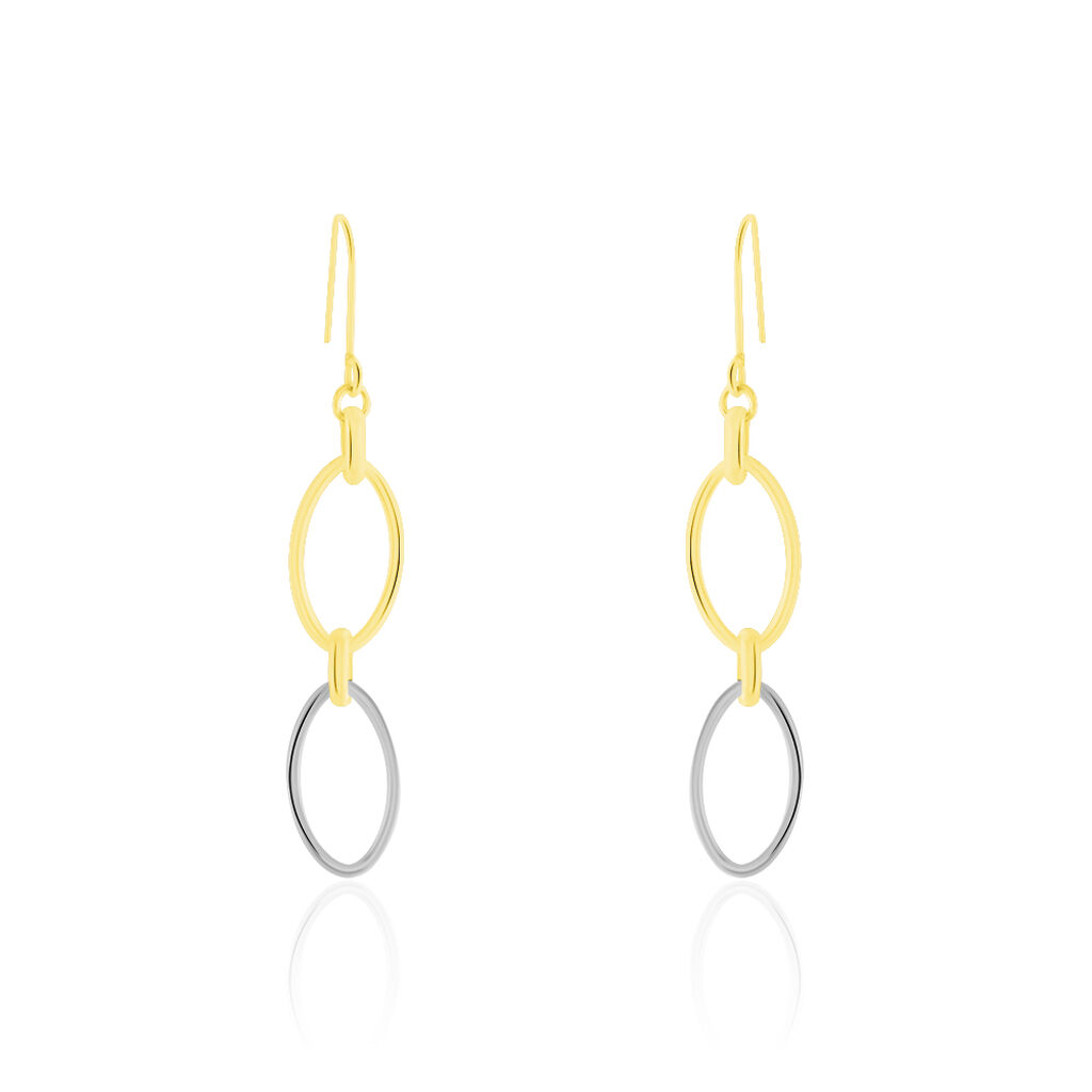 Boucles D'oreilles Pendantes Lucia Or Bicolore - Boucles d'oreilles pendantes Femme | Histoire d'Or