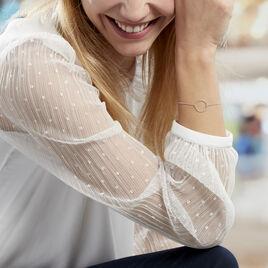 Bracelet Kaylee Argent Blanc - Bracelets fantaisie Femme | Histoire d'Or