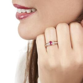 Bague Enea Or Rose Rubis Et Diamant - Bagues solitaires Femme | Histoire d'Or
