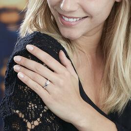 Bague Solitaire Natalia Or Blanc Diamant Synthetique - Bagues solitaires Femme   Histoire d'Or