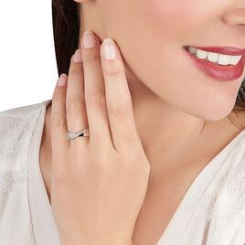 Bague Coralee Or Blanc Diamant - Bagues avec pierre Femme   Histoire d'Or
