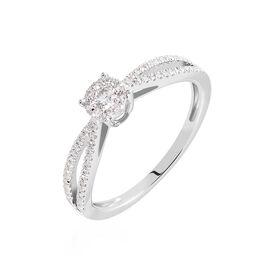 Bague Orphee Or Blanc Diamant - Bagues avec pierre Femme | Histoire d'Or