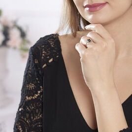 Bague Elianne Argent Blanc Oxyde De Zirconium - Bagues solitaires Femme | Histoire d'Or