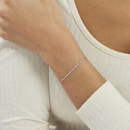 Bracelet Saman Argent Blanc - Bracelets fantaisie Femme | Histoire d'Or