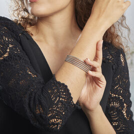 Bracelet Jonc Acier Blanc Anthonyn - Bracelets fantaisie Femme   Histoire d'Or