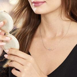 Collier Wendy Argent Rose Oxyde De Zirconium - Colliers Plume Femme | Histoire d'Or