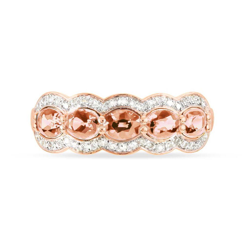 Bague Or Rose Margaux Morganites - Bagues avec pierre Femme | Histoire d'Or