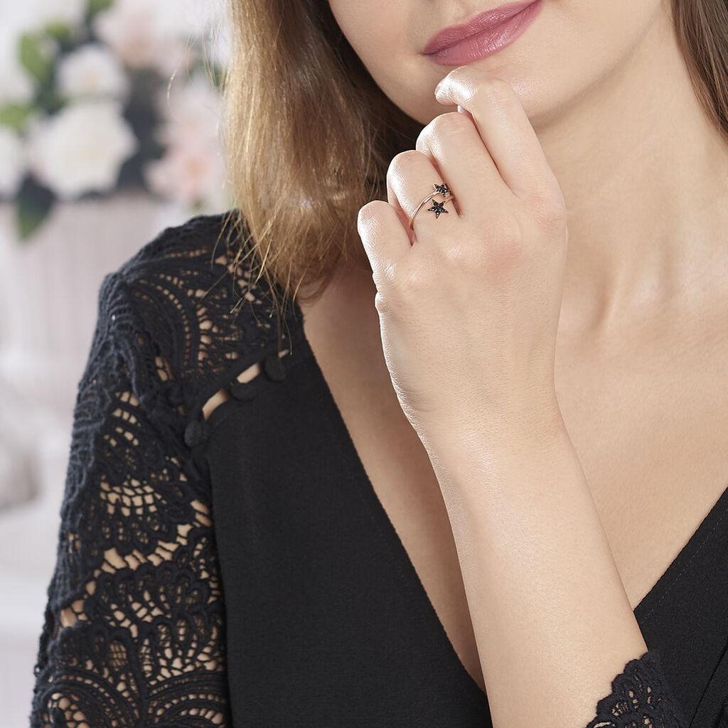 Bague Aliciana Argent Rose Oxyde De Zirconium - Bagues Etoile Femme   Histoire d'Or
