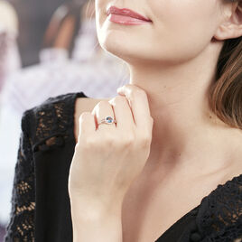 Bague Maeva Or Rose Topaze Et Oxyde De Zirconium - Bagues solitaires Femme | Histoire d'Or