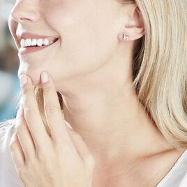 Boucles D'oreilles Puces Loubra Or Jaune Emeraude - Clous d'oreilles Femme | Histoire d'Or
