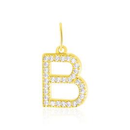 Pendentif Lettre B Or Jaune Oxyde - Pendentifs Femme | Histoire d'Or