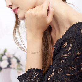 Bracelet Hanae Plaque Or Jaune - Bracelets Plume Femme | Histoire d'Or