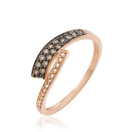 Bague Jelyssa Or Rose Diamant - Bagues avec pierre Femme   Histoire d'Or