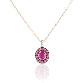 Collier Leona Or Rose Rubis Et Saphir Et Diamant - Bijoux Femme | Histoire d'Or