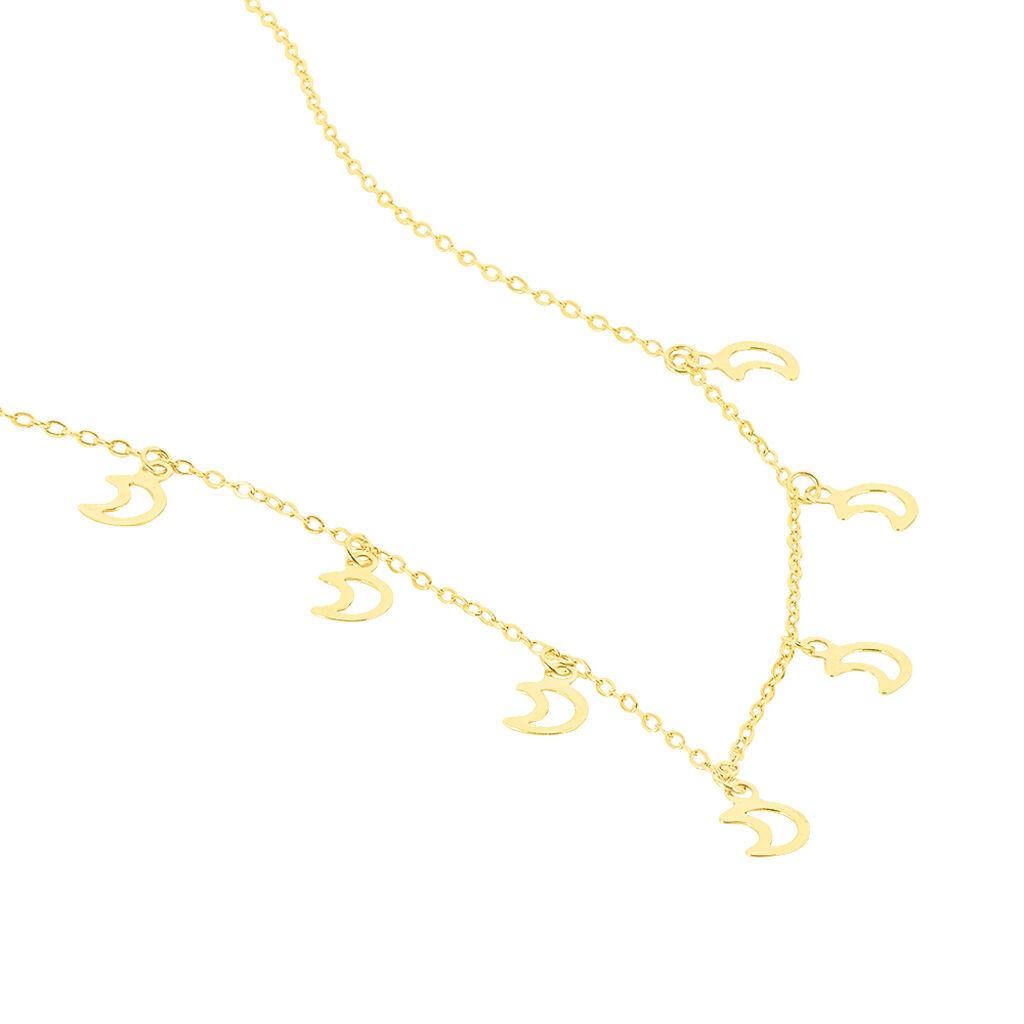 Collier Destiny Or Jaune - Colliers Lune Femme   Histoire d'Or
