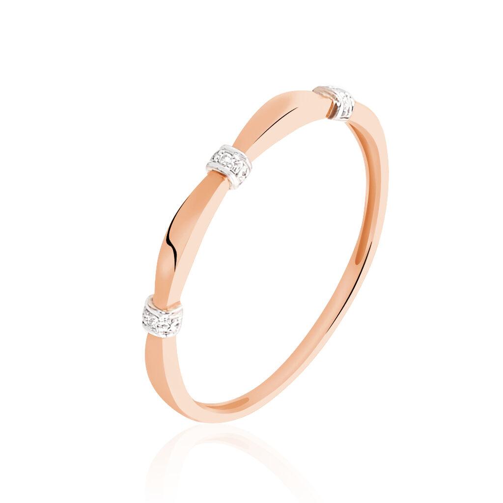 Bague Lisa Or Rose Diamant - Bagues avec pierre Femme | Histoire d'Or