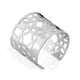 Bracelet Manchette Acier Blanc - Bracelets fantaisie Femme | Histoire d'Or
