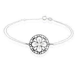 Bracelet Trefle Or Blanc - Bracelets Trèfle Femme | Histoire d'Or