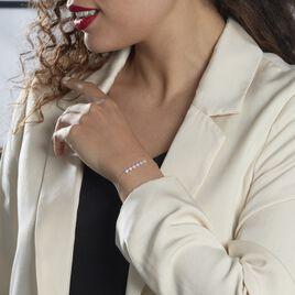 Bracelet Soeli Or Blanc Oxyde De Zirconium - Bijoux Etoile Femme   Histoire d'Or