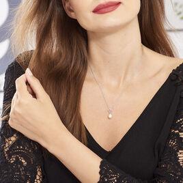 Collier Argent Coeur Perle De Culture - Colliers Coeur Femme | Histoire d'Or