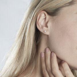 Boucles D'oreilles Puces Grace Or Jaune Diamants  - Clous d'oreilles Femme | Histoire d'Or