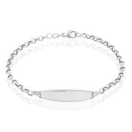 Bracelet Identité Marcel Maille Jaseron Or Blanc - Bracelets Communion Enfant | Histoire d'Or