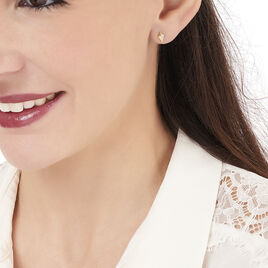 Boucles D'oreilles Puces Lizia Or Jaune Diamant - Clous d'oreilles Femme | Histoire d'Or