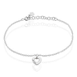 Bracelet Cenydd Argent Blanc - Bracelets Coeur Femme | Histoire d'Or