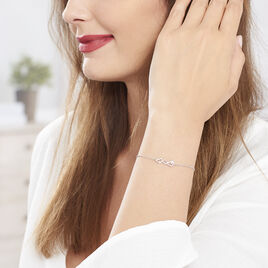 Bracelet Yolaine Argent Blanc Oxyde De Zirconium - Bracelets Coeur Femme | Histoire d'Or