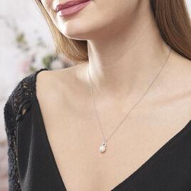 Collier Lilio Argent Blanc Perle De Culture Et Oxyde De Zirconium - Colliers fantaisie Femme | Histoire d'Or