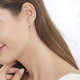 Boucles D'oreilles Or Rose Antonia Puces - Clous d'oreilles Femme | Histoire d'Or
