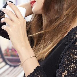 Bracelet Jonc Bilao Argent Rose - Bracelets fantaisie Femme   Histoire d'Or
