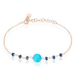 Bracelet Aurelia Argent Rose Pierre De Synthese - Bracelets fantaisie Femme | Histoire d'Or