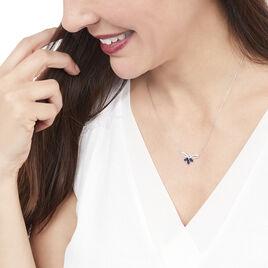 Collier Florana Or Blanc Saphir Et Diamant - Bijoux Femme | Histoire d'Or