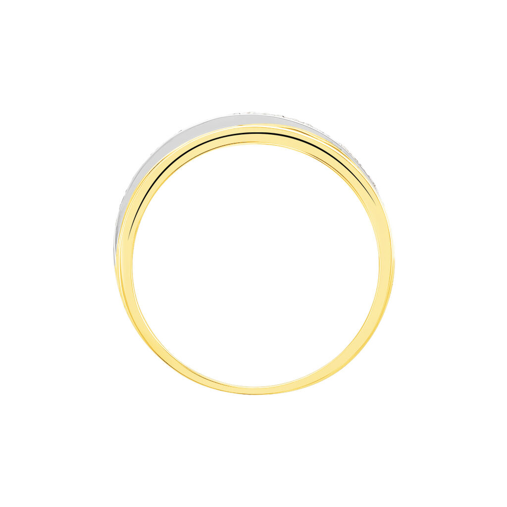 Bague Layan Or Tricolore Diamant - Bagues avec pierre Femme | Histoire d'Or